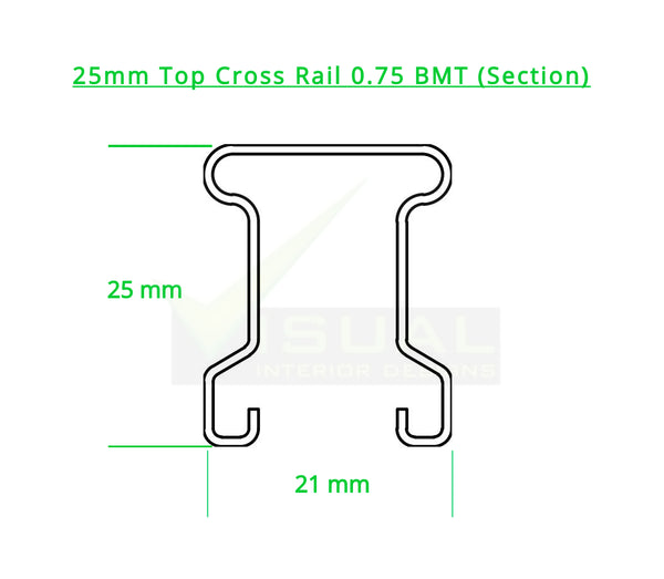 25mm Top Cross Rail (0.75 BMT)