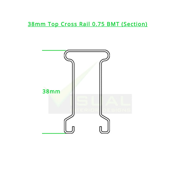 38 mm Top Cross Rail (0.75 BMT)