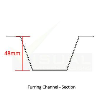 Face Furring Channel 48mm
