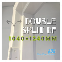 1040mm •  1240mm DOUBLE Split Metal Door Frame