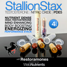 Load image into Gallery viewer, StallionStax Combo- Enhanced Testosterone, Endurance and Performance and Increased Strength for Men.