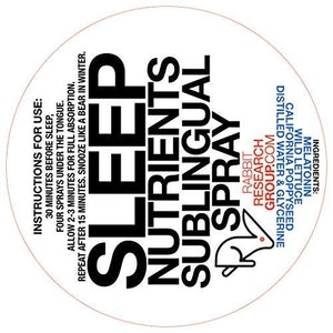 SleepNutrients Sublingual Spray - Deep, Restorative Sleep and Detox (40+ Doses)
