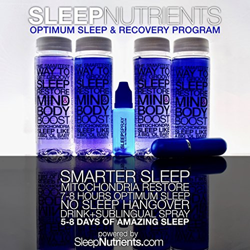 SleepNutrients Combo Pack - Deep, Restorative Sleep and Detox (4 Drinks -8 Doses + 20-Sublingual Spray Doses)