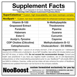 NooBoost - Powerful Nootropic Booster Caps - The Brain and Body Booster for NZT-48