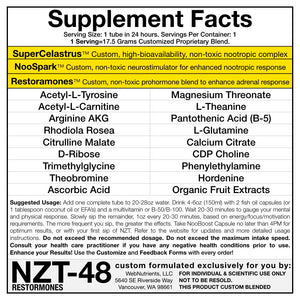 Limitless NZT-48 +Restoramones - Drink Mix and Capsules for Brain Boosting and Hormone Optimization