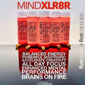MINDXLR8R - Nootropic Energy Drink + Capsules for Focus, Energy and Mood.
