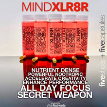 Load image into Gallery viewer, MINDXLR8R - Nootropic Energy Drink + Capsules for Focus, Energy and Mood.