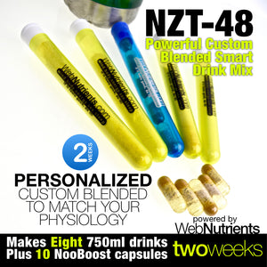 NZT-48 Drink Mix + Capsules Combo - Brain Booster for Focus, Mood and Energy