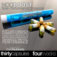 Load image into Gallery viewer, NooBoost - Powerful Nootropic Booster Caps - The Brain and Body Booster for NZT-48