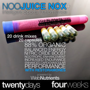 NooJuice + Endurance Building Sports Performance Nootropic Drink Mix Brain Booster and Cardiovascular Enhancer
