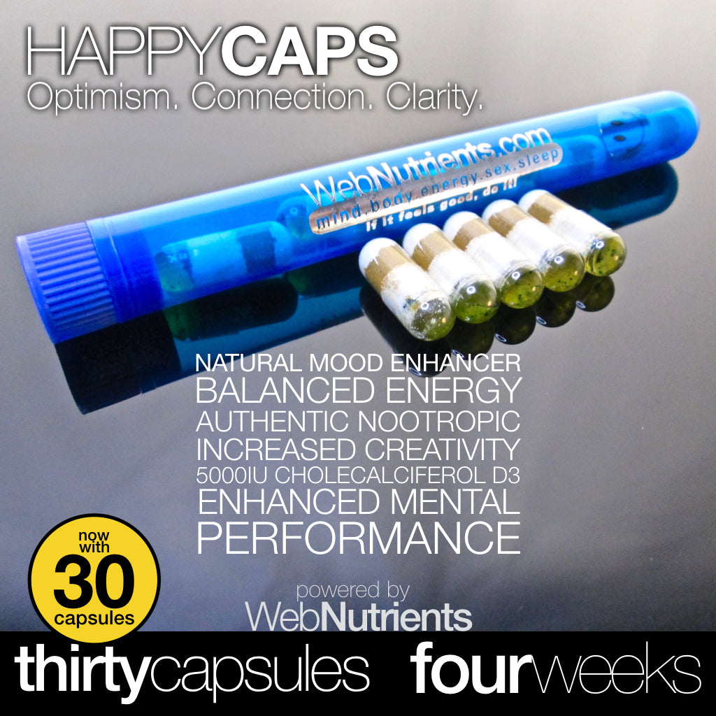 HappyCaps - Natural Brain and Mood Boosting Nutrition.