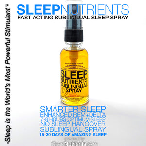 Sleep Spray for Deep, Restorative Sleep, Deep REM and Delta Sleep.