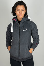 CLK Zipper Palmleaf anthrazit blau - ladies