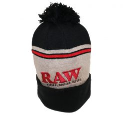 RAW WINTER HAT BLACK/BROWN