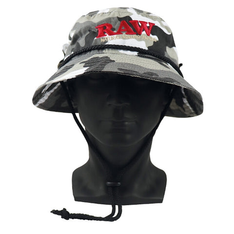 RAW w SMOKERMAN HAT CAMO – LARGE /MIDIUM