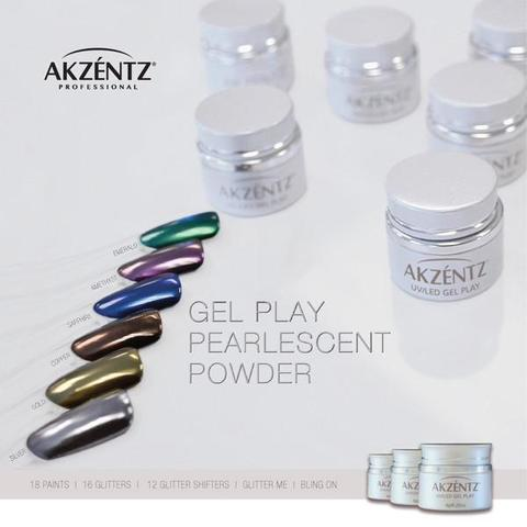 AKZENTZ GEL PLAY Pearlescent Powder- SILVER