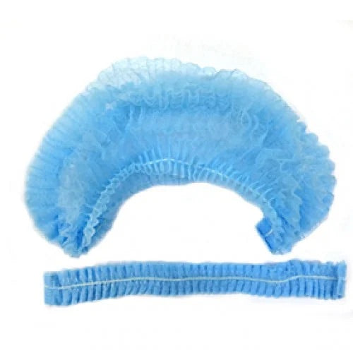 Disposable protective hair caps (BLUE ) 25pc