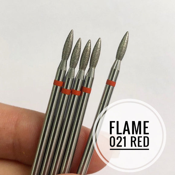 Nail Bit Flame 021 Red (1pc. Kazan)
