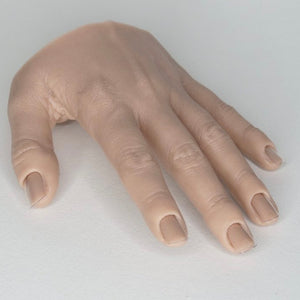 Training silicone hand, left,  1pc, natural beige color
