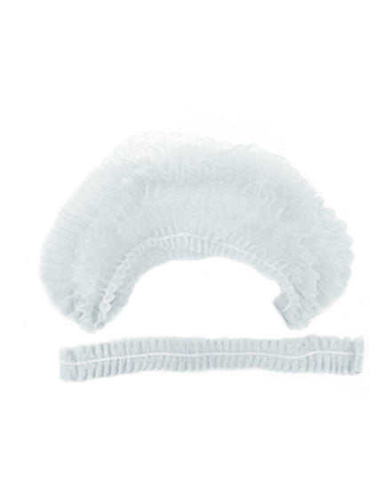 Disposable protective hair caps, 25pc, WHITE