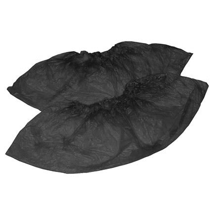 Disposable Shoe Covers, 50pairs, BLACK
