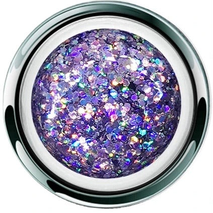 AKZENTZ GEL PLAY - GLITTER CRUSH PURPLE