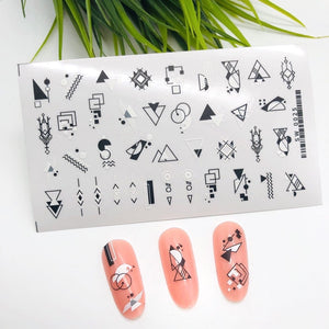 Nail sticker sw0025, self adhesive, white /black