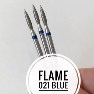 Nail Bit Flame 021 Blue (1pc Kazan)