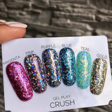 AKZENTZ GEL PLAY - GLITTER CRUSH MAGENTA
