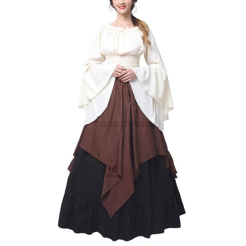 Women Halloween Costume Wench Victorian Renaissance Dress Witch Medieval Dress Cosplay