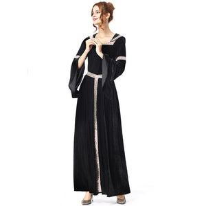 Halloween Carnival Holiday Party Black Witch Costume Witch Costumes for Women Adult Fantasia Dresses LJH-70411