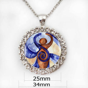 1pcs Pagan The Spiral Goddess Pendant Choker Statement Silver Necklace For Women Dress Accessories - Abaicer Jewerly