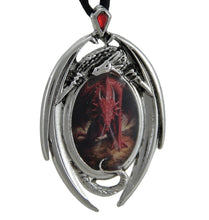 Load image into Gallery viewer, Anne Stokes Dragon's Lair Cameo Pendant Necklace