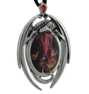 Anne Stokes Dragon's Lair Cameo Pendant Necklace