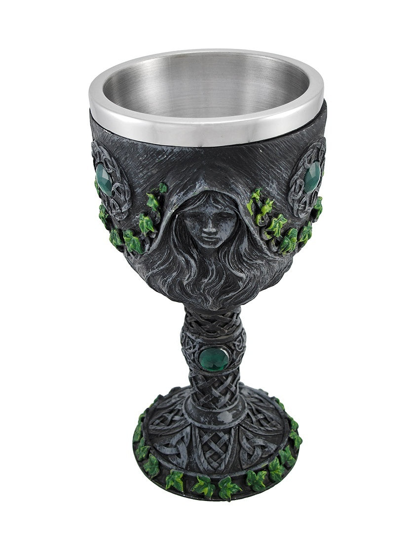 Pagan Maiden, Mother, Crone Wine Goblet