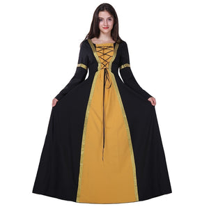 Renaissance Victorian Halloween Witch Medieval Dress Cosplay Wench Costume