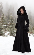 Load image into Gallery viewer, XXXL Plus Size Women Medieval Dress Renaissance Vintage Fur Hoodie Coat Vampire Dress Floor Length Renaissance Dress Bell Sleeve