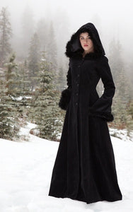 XXXL Plus Size Women Medieval Dress Renaissance Vintage Fur Hoodie Coat Vampire Dress Floor Length Renaissance Dress Bell Sleeve