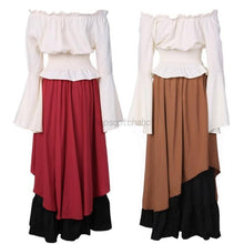Load image into Gallery viewer, Women Halloween Costume Wench Victorian Renaissance Dress Witch Medieval Dress Cosplay