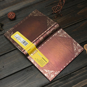 Classic Vintage Retro Golden Plaid Framed Personal Notebook Diary Journal Book Gift Random Color