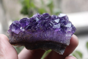 70-80g BEAUTIFUL AMETHYST CRYSTAL CLUSTER GEODE FROM URUGUAY healing
