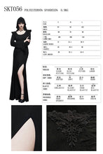Load image into Gallery viewer, Devil Fashion Gothic Black Hooded Long Dress Steampunk Halloween Women Sexy Costume Witch Dresses