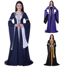 Load image into Gallery viewer, Renaissance Victorian Halloween Witch Medieval Dress Cosplay Wench Costume