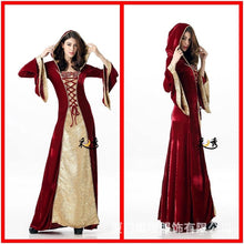 Load image into Gallery viewer, Halloween Costume Adult Cosplay Magic Witch Dress Up Witch Dress Long Dress Court Queen Costume