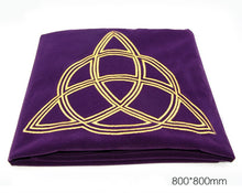 Load image into Gallery viewer, Altar Tarot Tablecloth Table Cloth Velvet Divination Cards Pentacle Wicca Tapestry