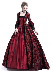 New Fashion 4 Colors Women Long Sleeve Medieval Dress Renaissance Retro Gown Long Dress Casual Female Girl Wizard Cosplay Clothe