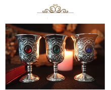 Load image into Gallery viewer, Tarot Water Elemental Chalice Goblet Wicca Altar Pagan Goth Vintage Divination Props