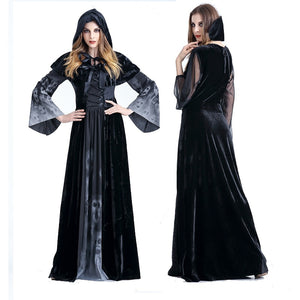 Adult Womens Halloween Witch Costume Cosplay Fancy Dress