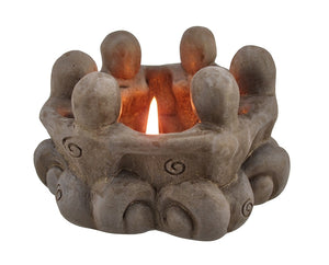 Goddess Circle Ceramic Tea Light Candle Holder Pagan Wiccan