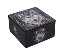 Load image into Gallery viewer, Lisa Parker `The Wild One` Celtic Wolf Trinket Box with Mirror